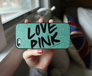 case, iphone, and love pink image
