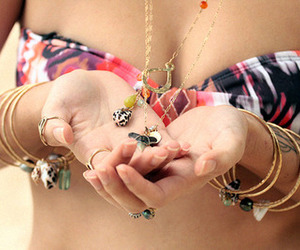 bracelets, fashion, and necklaces image