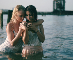 girls, water, and wet image