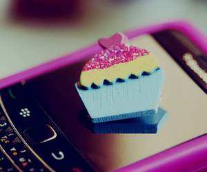 blackberry, cupcake, and pink image