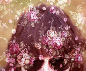 floral, hair, and sunglasses image