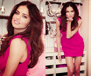 Adriana Lima, model, and pink image