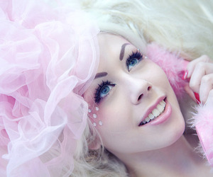 pink, barbie, and beautiful image