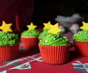 christmas, cupcakes, and food image