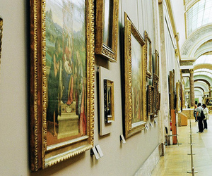 painting, museum, and louvre image