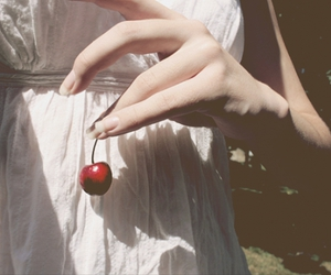 cherry, girl, and summer image