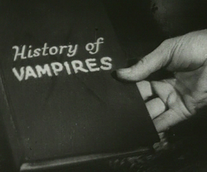 vampire, book, and black and white image