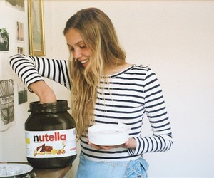nutella, girl, and blonde image