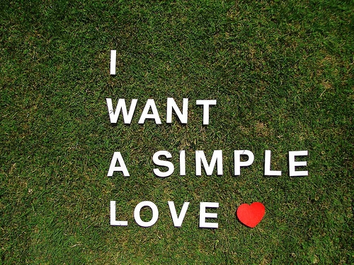 love, simple, and heart image