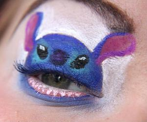 stitch, disney, and makeup image