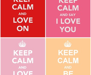 keep calm, love, and pink image