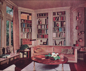 vintage, book, and library image