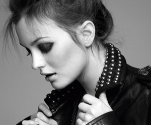 leighton meester, gossip girl, and black and white image