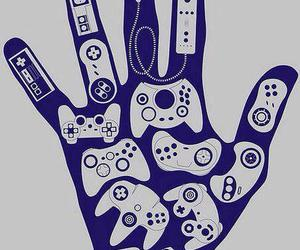 game and hand image
