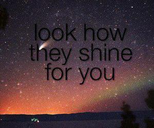stars, shine, and night image