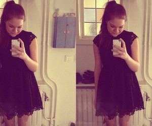 black, nice, and dress image