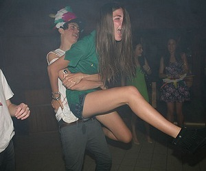 girl, boy, and party image