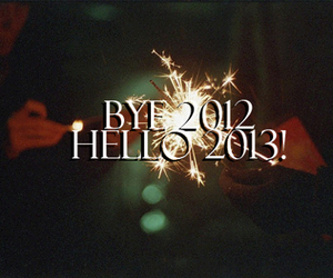 2013, new year, and 2012 image