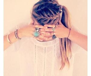 hair, french braid, and aaaahhh image