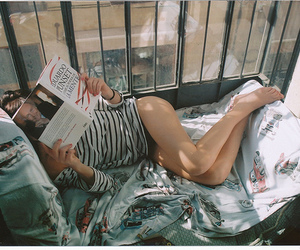 girl, photography, and book image