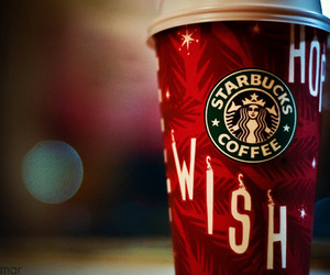 coffee, holidays, and starbucks image