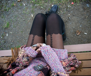 girl, fashion, and tights image