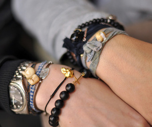 fashion, bracelet, and skull image