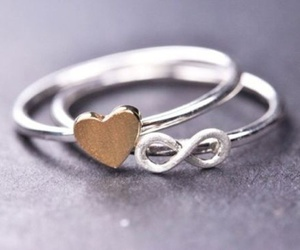 ring, heart, and rings image