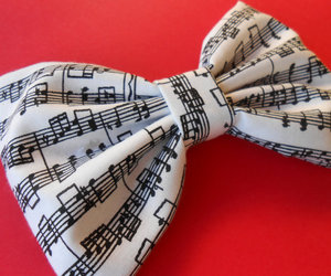 music, bow, and fashion image