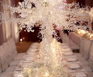 decoration, table, and wedding image