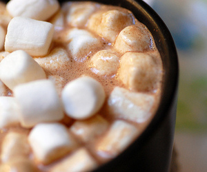 marshmallow, drink, and chocolate image