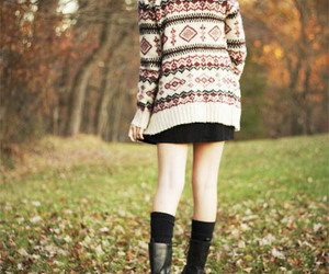 fashion, outfit, and leather boots image