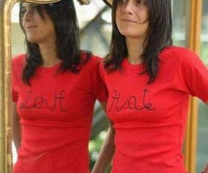 hate, love, and mirror image