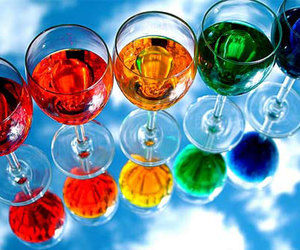 drink and rainbow image