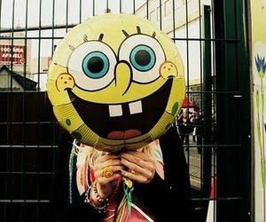 spongebob, bob esponja, and balloons image