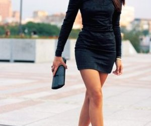 black dress, style, and sun glasses image