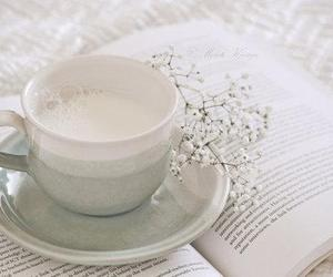 book, milk, and cup image