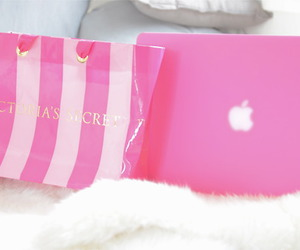 fur, macbook, and pink image