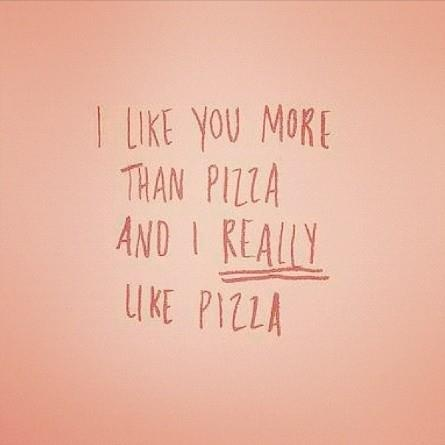 Happy Quotes / pizza quote on We Heart It