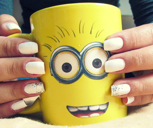 minion, nails, and white image