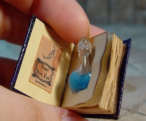 book, potion, and magic image