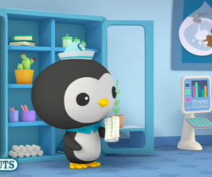 bandage, penguin, and sink image