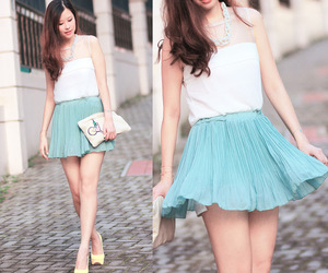baby blue, girl, and fashion image