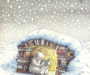 book, reading, and bear image