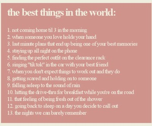 best things, life, and text image