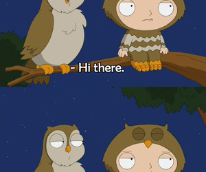 owl, family guy, and lol image