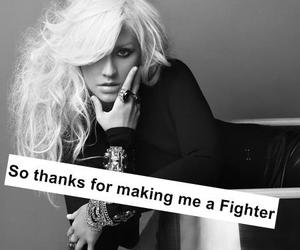 quote, christina aguilera, and fighter image