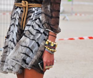 fashion, skirt, and bracelet image