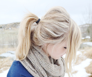 blonde, girl, and winter image