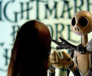 jack and sally, jack skellington, and the nightmare before christmas image